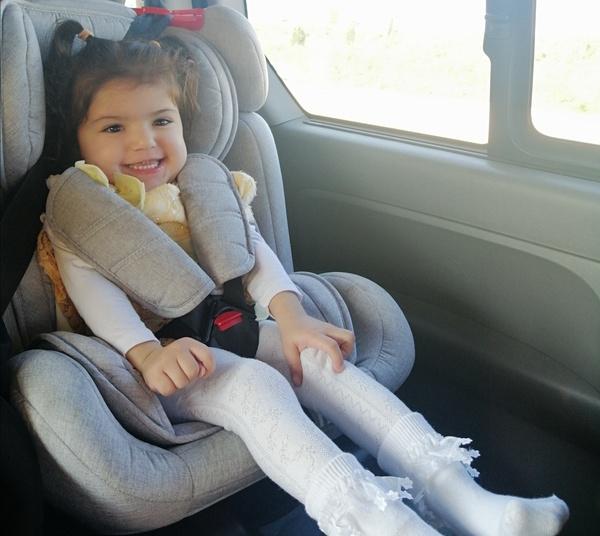 shireen in car seat