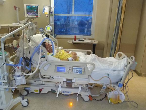 frank hospital room