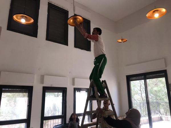 mohammed on ladder