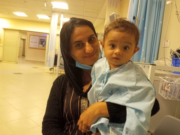 shadi and mother preop